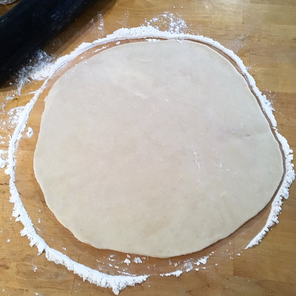 La pâte brisée étalée